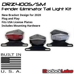 DRZ400S/SM Tail Light Kit / Fender Eliminator Kit
